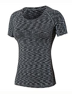 Dame Løbe-T-shirt Kortærmet Hurtigtørrende Åndbart Komprimering Svedreducerende T-Shirt Sweatshirt Toppe for Yoga Træning & Fitness Løb