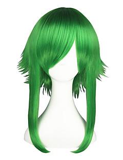 billige Anime cosplay-Cosplay Parykker Vokaloid Gumi Anime Cosplay-parykker 55 CM Varmeresistent Fiber Herre Dame
