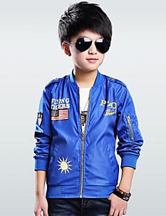 tanie Odzież dla chłopców-Garnitur / marynarka Bawełna Dla chłopców Codzienny Wiosna Jesień Długi rękaw Black Ciemno niebieski Army Green Niebieski