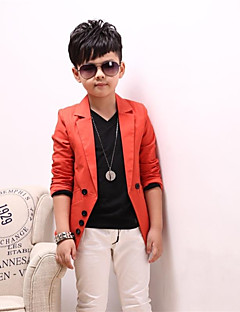 Boys' Daily Solid Suit & Blazer,Cotton Spring Fall Long Sleeve Black Orange