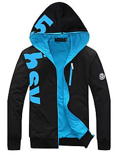 baratos Abrigos e Moletons Masculinos-Homens Tamanhos Grandes Delgado Esportes Activo Manga Longa Jacket Hoodie Letra
