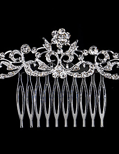 cheap Flower Girl Headpiece-Pearl Crystal Rhinestone Alloy Hair Combs 1 Wedding Special Occasion Casual Headpiece