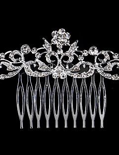 baratos Menina das Flores-Pérola Cristal Strass Liga Pentes de cabelo 1 Casamento Ocasião Especial Casual Capacete