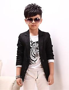 hesapli Ships In 24 Hours-Genç Erkek Havalı Günlük Solid Uzun Kollu Pamuklu Takım Elbise ve Blazer Siyah