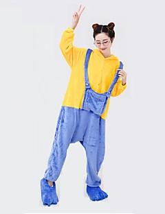 billige Kigurumi-Kigurumi-pysjamas Mini gule menn Onesie-pysjamas Kostume polyester Cosplay Til Voksne Pysjamas med dyremotiv Tegnefilm Halloween Festival
