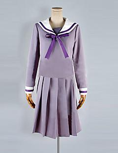 """billige Anime cosplay-Inspirert av Noragami Cosplay Anime  """"Cosplay-kostymer"""" Cosplay Klær / Skoleuniformer Ensfarget Halsklut / Topp / Skjørte Til Dame Halloween-kostymer"""