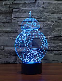 baratos Luzes de presente-toque escurecendo luz led 3d led luz decoração 7colorful lâmpada novidade iluminação luz