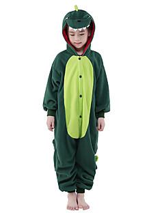 billige Kigurumi-Barne Kigurumi-pysjamas Dinosaur Onesie-pysjamas Polar Fleece Grønn Cosplay Til Gutter og jenter Pysjamas med dyremotiv Tegnefilm Festival / høytid kostymer