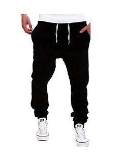 cheap Sweatpants-Men's Active Plus Size Cotton Sweatpants Pants - Solid Colored Light Blue / Sports / Weekend