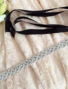 Cetim Casamento / Festa/Noite / Dia a Dia Faixa-Paetês / Miçangas / Pedraria Feminino 98 ½polegadas(250cm) Paetês / Miçangas / Pedraria
