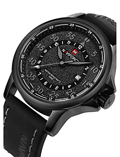cheap Jewelry & Watches-NAVIFORCE Men's Fashion Watch Military Watch Wrist Watch Quartz Japanese Quartz Black / Brown 30 m Water Resistant / Water Proof Calendar / date / day Cool Analog Luxury - Gray Brown Red Two Years