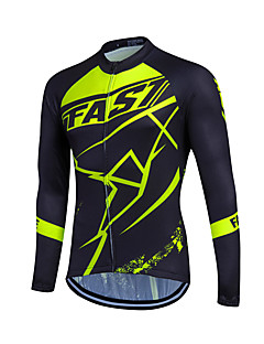 Fastcute Cycling Jersey Men's Women's Kid's Unisex Long Sleeves Bike Sweatshirt Jersey Top Quick Dry Front Zipper Breathable Soft YKK