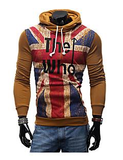 billige Hættetrøjer og sweatshirts til herrer-Herre Plusstørrelser Sport Langærmet Hattetrøje - Bogstaver, Sport