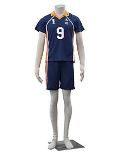 "billige Anime Kostymer-Inspirert av Haikyuu Kageyama Tobio Anime  ""Cosplay-kostymer"" Cosplay Klær Ensfarget Kortermet Topp Shorts Til Herre"