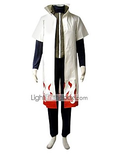 """billige Anime cosplay-Inspirert av Naruto Minato Namikaze Anime  """"Cosplay-kostymer"""" Cosplay Klær Ensfarget Kortermet Vest Topp Bukser Kappe Til Herre"""