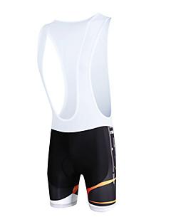 billige Sykkelklær-ILPALADINO Herre Shorts med seler til sykning Sykkel Sykkelshorts Med Seler / Bunner 3D Pute, Fort Tørring, Vindtett Mote Lycra Svart