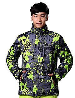 Jaqueta de Esqui Homens Esqui Esportes de Inverno Térmico/Quente A Prova de Vento Algodão Poliéster Jaqueta de Inverno