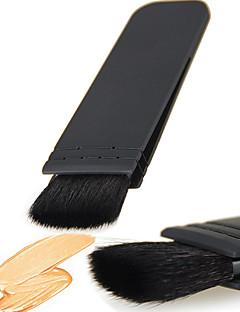 billiga Sminkborstar-1 Rougeborste Concealerborste Puderborste Foundationborste Konturborste Gethårborste Professionell Resor Miljövänlig Bärbar Plast Ansikte