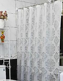 tanie Zasłony prysznicowe Najlepsza sprzedaż-Zasłony prysznicowe Nowoczesny PEVA Kwiaty Wykonane maszynowo