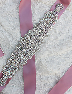 cheap Weekly Special-Satin Wedding Party / Evening Sash With Rhinestone Women's Sashes