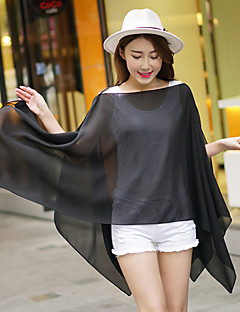 Women Chiffon Solid Color Thin Scarf Shawl,Cute / Casual