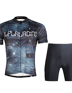ILPALADINO Cycling Jersey with Shorts Men's Short Sleeves Bike Jersey Clothing Suits Quick Dry Ultraviolet Resistant Breathable Soft