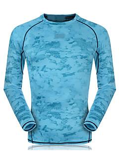 男女兼用 ランニングTシャツ 長袖 速乾性 高通気性 ビデオ圧縮 モイスチャーコントロール トレーナー トップス のために エクササイズ&フィットネス ランニング 竹炭素繊維 タイト グレー ライトグレー スカイブルー レッド ライトブルー M L XL XXL XXXL