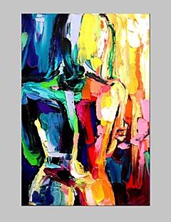 baratos Retratos Abstratos-Pintura a Óleo Pintados à mão - Retratos Abstratos Modern / Estilo Europeu Com Moldura