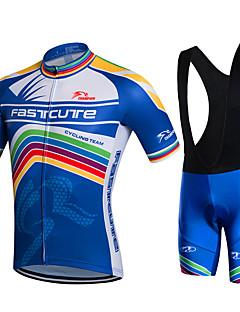 Fastcute Wielrenshirt met strakke shorts Heren Korte mouw FietsenFietsbroeken/Broekje Jack Short/Broekje Hemd Sweatshirt Shirt