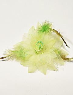お買い得  ダンス用アクセサリー-ダンスパフォーマンス ヘッドピース 女性用 子供用 性能 ポリエステル フェザー フェザー/ファー フラワー 帽子