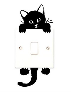 cheap Animal Wall Stickers-Animals Holiday Leisure Wall Stickers Plane Wall Stickers Decorative Wall Stickers Light Switch Stickers, PVC Home Decoration Wall Decal