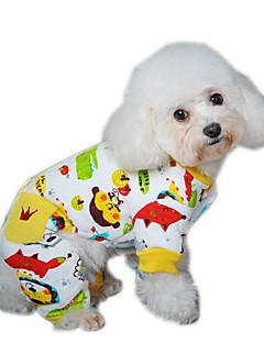 お買い得  犬用ウェア-犬 ジャンプスーツ パジャマ 犬用ウェア カジュアル/普段着 カートゥン イエロー レッド ブルー コスチューム ペット用