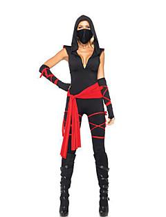 Soldat/Kriger Film & Tv Kostymer Zentai Drakter Morphsuit Kvinnelig Halloween Festival/høytid Halloween-kostymer Svart Lapper