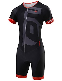 cheap Cycling Clothing-Malciklo Cycling Jersey with Shorts Men's Short Sleeves Bike Triathlon/Tri Suit Compression Clothing Clothing Suits Quick Dry Front