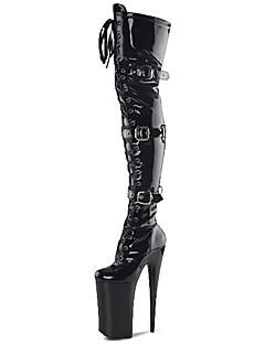 Χαμηλού Κόστους -Γυναικεία Παπούτσια Λουστρίν / Δερματίνη Φθινόπωρο / Χειμώνας Μοντέρνες μπότες / Φωτιζόμενα παπούτσια / Παπούτσια club Μπότες Τακούνι