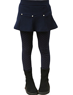 cheap Girls' Clothing-Girls' Daily Solid Leggings, Others Winter Ruffle Gray Navy Blue