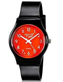 billige Børneure-Quartz Armbåndsur Farverig Plastik Bånd Slik Afslappet Mode Sej Sort