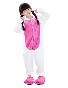 billige Kigurumi-Kigurumi-pysjamas Enhjørning Onesie-pysjamas Kostume Flanell Fleece Blå Cosplay Til Barne Pysjamas med dyremotiv Tegnefilm Halloween