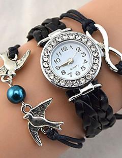 Mulheres Bracele Relógio Relógio de Pulso Relógio de Moda Quartzo Com Strass imitação de diamante PU Banda Brilhante Heart Shape Vintage