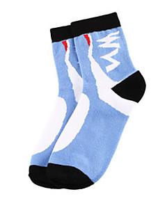 Sportief Fietsen/Wielrennen Sokken/Fietssokken Unisex Mouwloos Ademend / Zweetafvoerend Katoen Flora / Botanisch Blauw Gratis Grootte