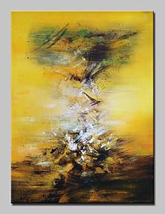 baratos Paisagens Abstratas-Pintados à mão Abstrato Paisagens Abstratas Vertical,Modern Estilo Europeu 1 Painel Tela Pintura a Óleo For Decoração para casa