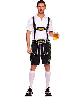 billige Halloweenkostymer-Stuepike Kostumer bayerske Oktoberfest Cosplay Kostumer Party-kostyme Herre Halloween Oktoberfest Festival / høytid Halloween-kostymer