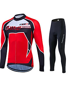 Fastcute Cycling Jersey with Tights Men's Women's Unisex Long Sleeves Bike Tracksuit Jersey Tights Top Clothing Suits Bottoms Quick Dry
