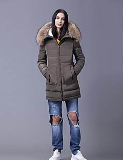 Płaszcz-Płaszcz-Odzież puchowa-Prosta-Długi rękaw-Bawełna / Poliester