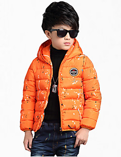 cheap Boys' Jackets & Coats-Boy's Cotton Jacket & Coat,All Seasons / Spring / Fall Color Block