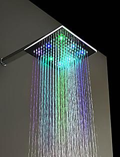 עכשווי מקלחת גשם כרום מאפיין for  LED / גשם , ראש המקלחת