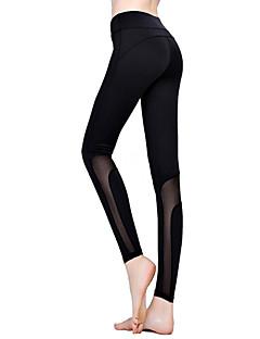 halpa Naisten housut-Naisten Puuvilla Urheilullinen Leggingsit - Yhtenäinen