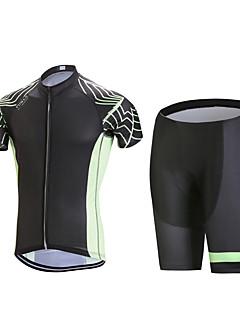 billige Sett med sykkeltrøyer og shorts/bukser-Herre Kortermet Sykkeljersey med shorts - Svart Geometrisk Sykkel Klessett, 3D Pute, Fort Tørring, Anatomisk design, Pustende,