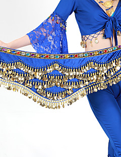 cheap Dance Accessories-Belly Dance Hip Scarves Women's Training Polyester Beading / Gold Coins 1 Piece