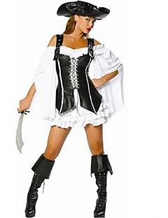 billige Halloweenkostymer-Pirat karriere Kostymer Cosplay Kostumer Party-kostyme Maskerade Dame Halloween Karneval Festival / høytid Halloween-kostymer Drakter Ensfarget